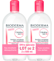 CREALINE TS H2O Solution micellaire sans parfum nettoyante apaisante 2Fl/500ml à Hendaye