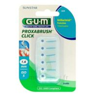 GUM PROXABRUSH CLICK, 1,6 mm, bleu , blister 6 à Hendaye
