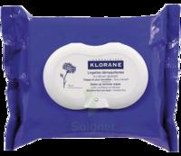 Klorane Soins des Yeux au Bleuet Lingette démaquillante biodégradable 2*Packs/25 à Hendaye