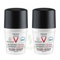 Vichy Homme Déodorant anti-transpirant anti trace 48H 2*Billes/50ml à Hendaye