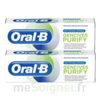 Oral B Gencives Purify Dentifrice 2*T/75ml à Hendaye