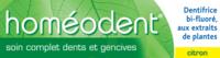 Boiron Homéodent Soin Complet Dents et Gencives Pâte Dentifrice Citron 2T/75ml à Hendaye