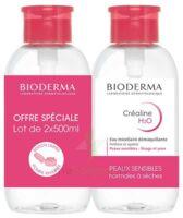 CREALINE H2O Solution micellaire nettoyante apaisante sans parfum 2Fl pompe inversée/500ml à Hendaye